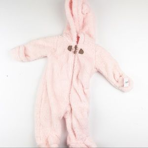NWT Carter's Baby Girl Fleece Footed Onesie 3 MOS